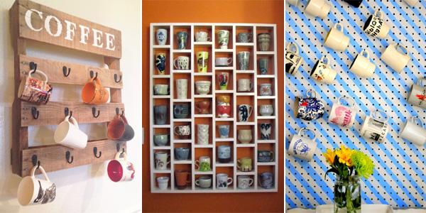 & 10 Creative DIY Coffee Mug Storage Ideas