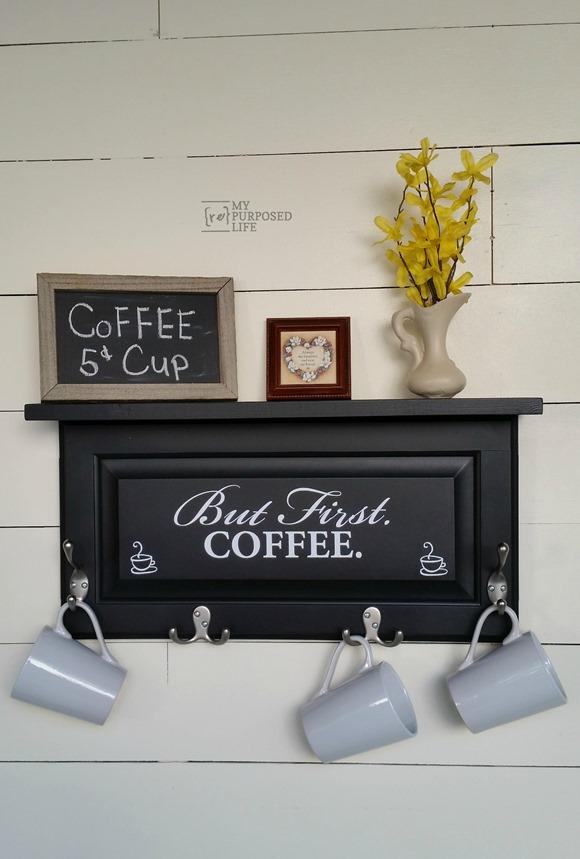 Turn a Cabinet Door into a Coffee Mug Hanger