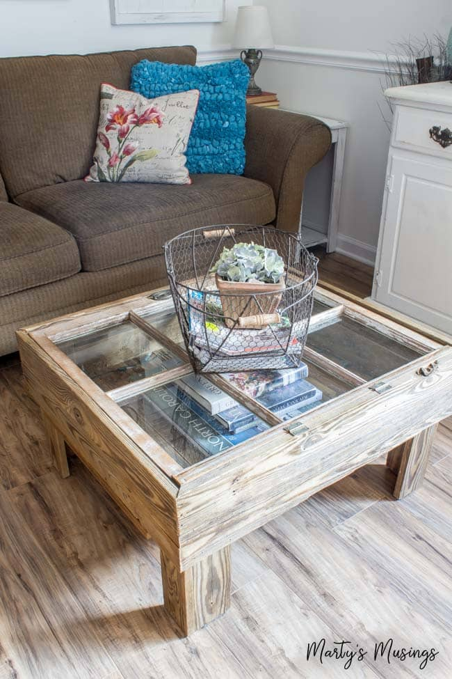 1 Upcycled Window Coffee Table