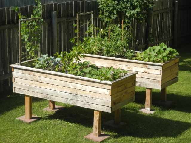 Raised Garden Beds Using Pallets