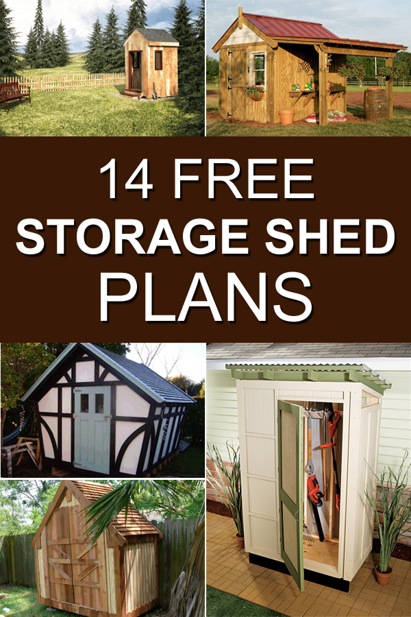 14 Free Storage Shed Plans