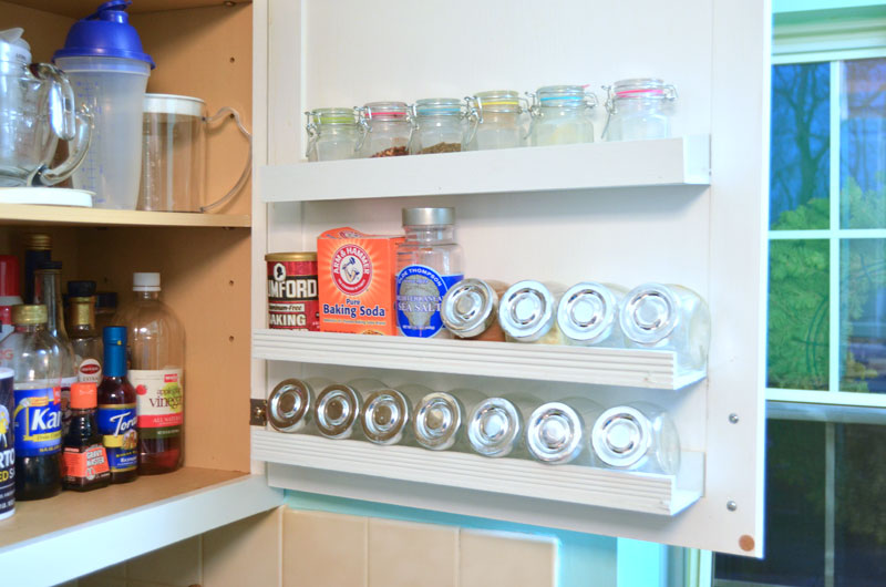 Inside Cabinet Door Storage Shelves