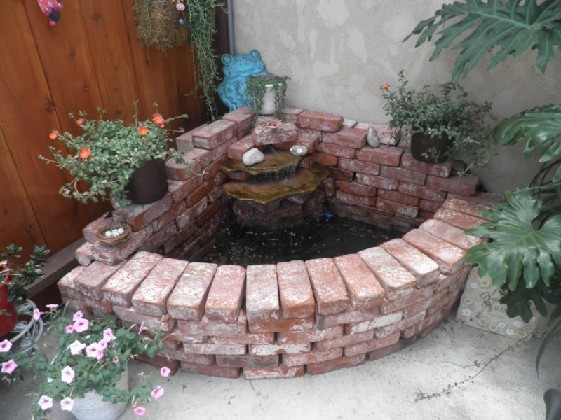 Build your own waterfall using bricks