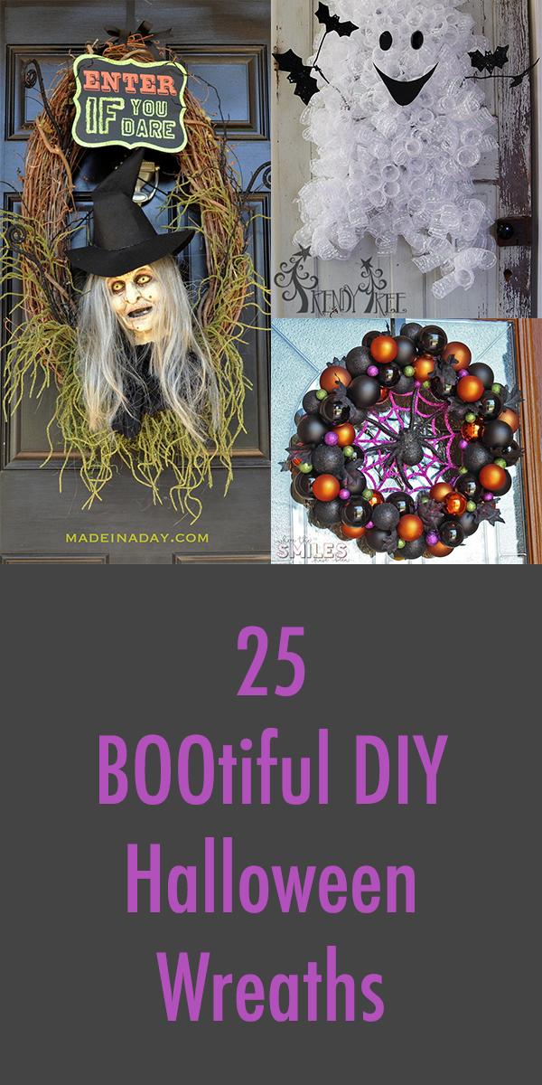25 BOOtiful DIY Halloween Wreaths