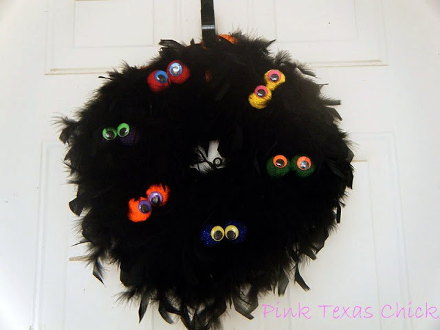 Creepy Monster Eyes Halloween Wreath
