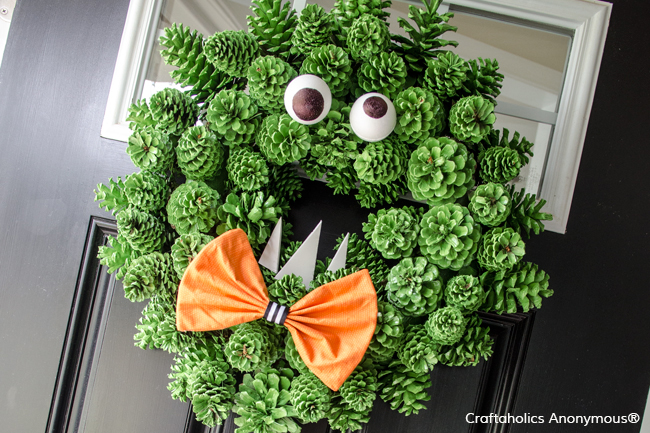 Pine Cone Monster Wreath