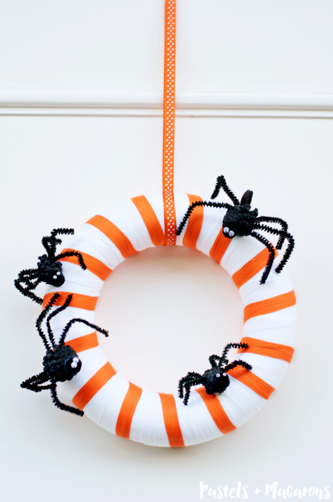 Spider Family Halloween Wreath