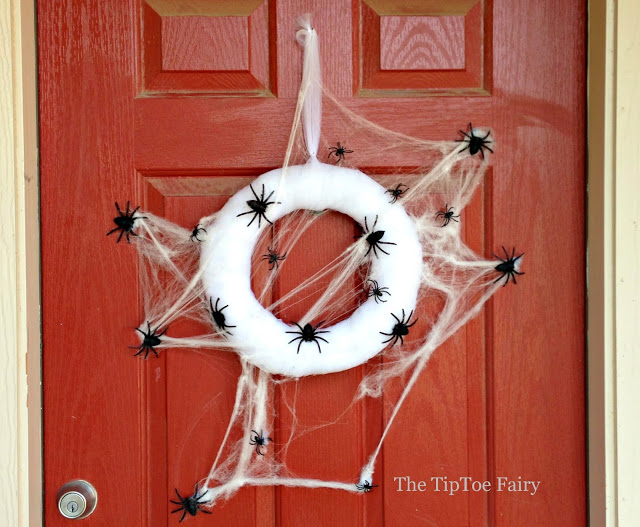 Spooky Halloween Spider Web Wreath