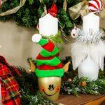 Christmas Wine Glass Votives