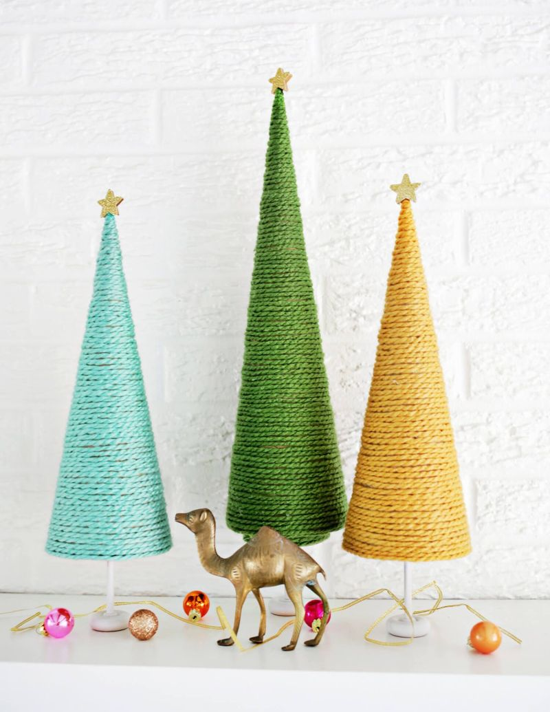 Miniature Yarn Christmas Tree