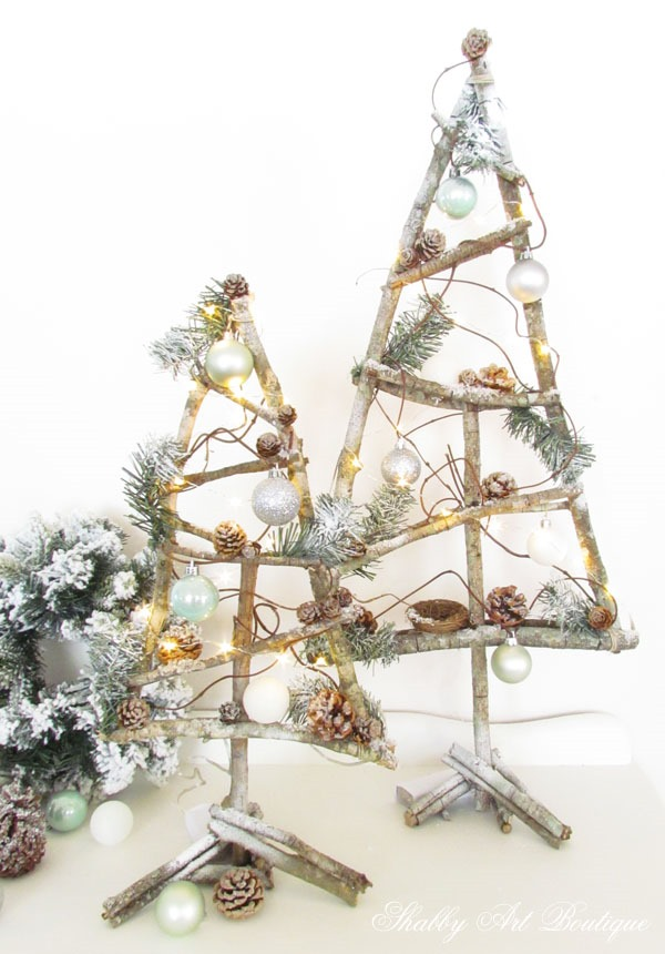 Twig Tabletop Christmas Trees