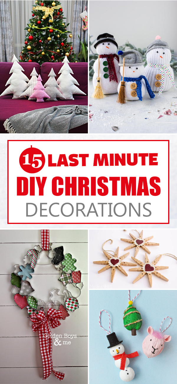 15 Simple Last-Minute DIY Christmas Decorations