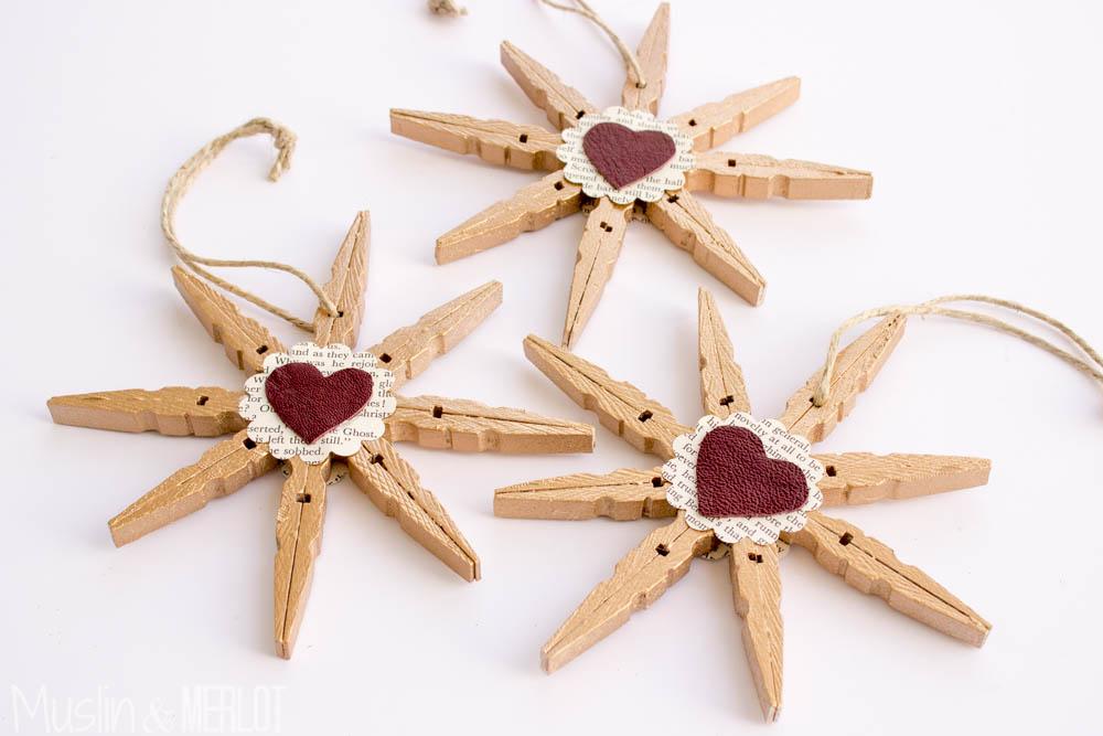 Clothespin Snowflakes