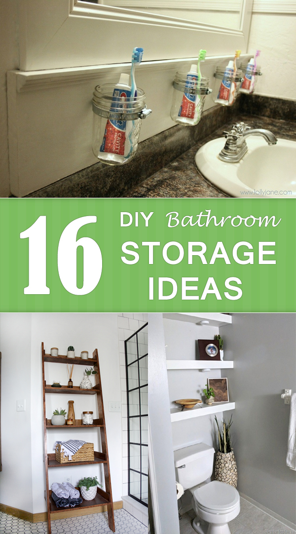 16 DIY Bathroom Storage Ideas