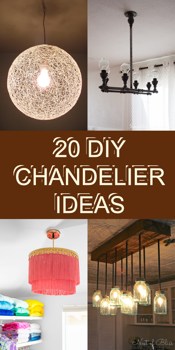 20 DIY Chandelier Ideas That Will Beautify Your Home