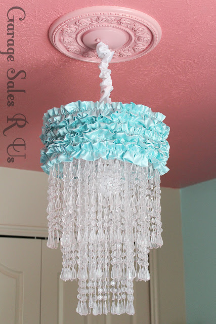 Bead and Ruffle Chandelier