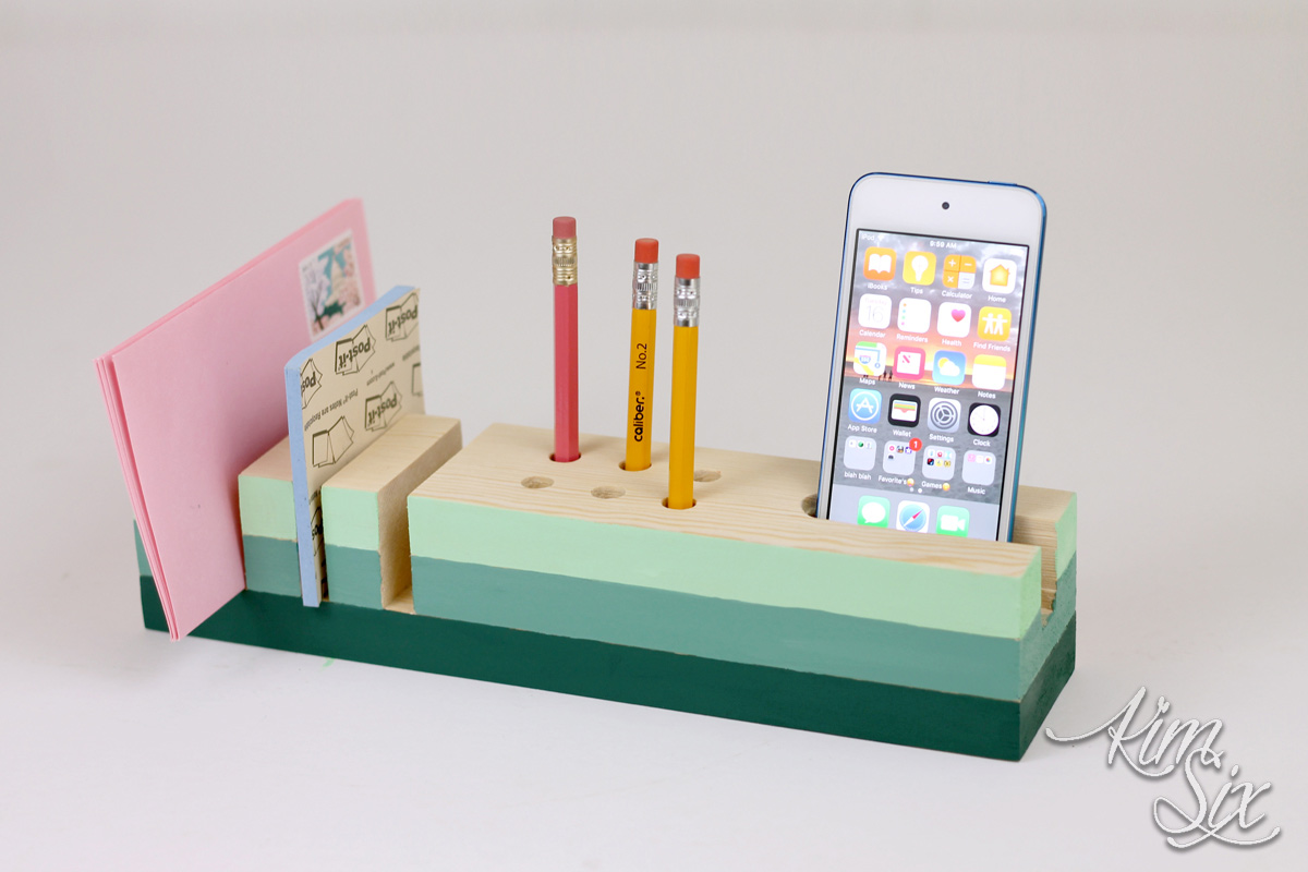 Desk Organizer from a Single 1x3 Board