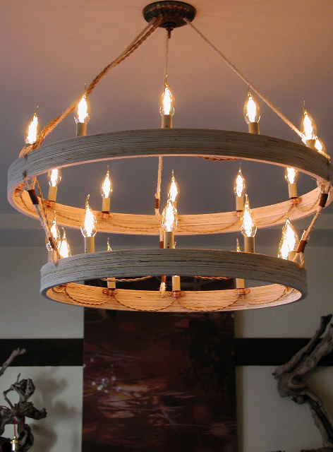 Double Ringer Chandelier