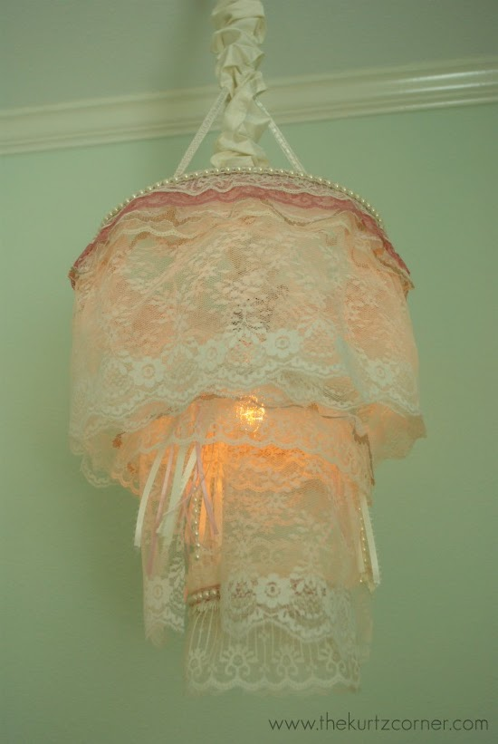 Shabby Chic Lace Chandelier