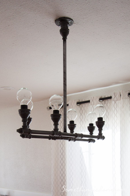 Steel Pipe Chandelier