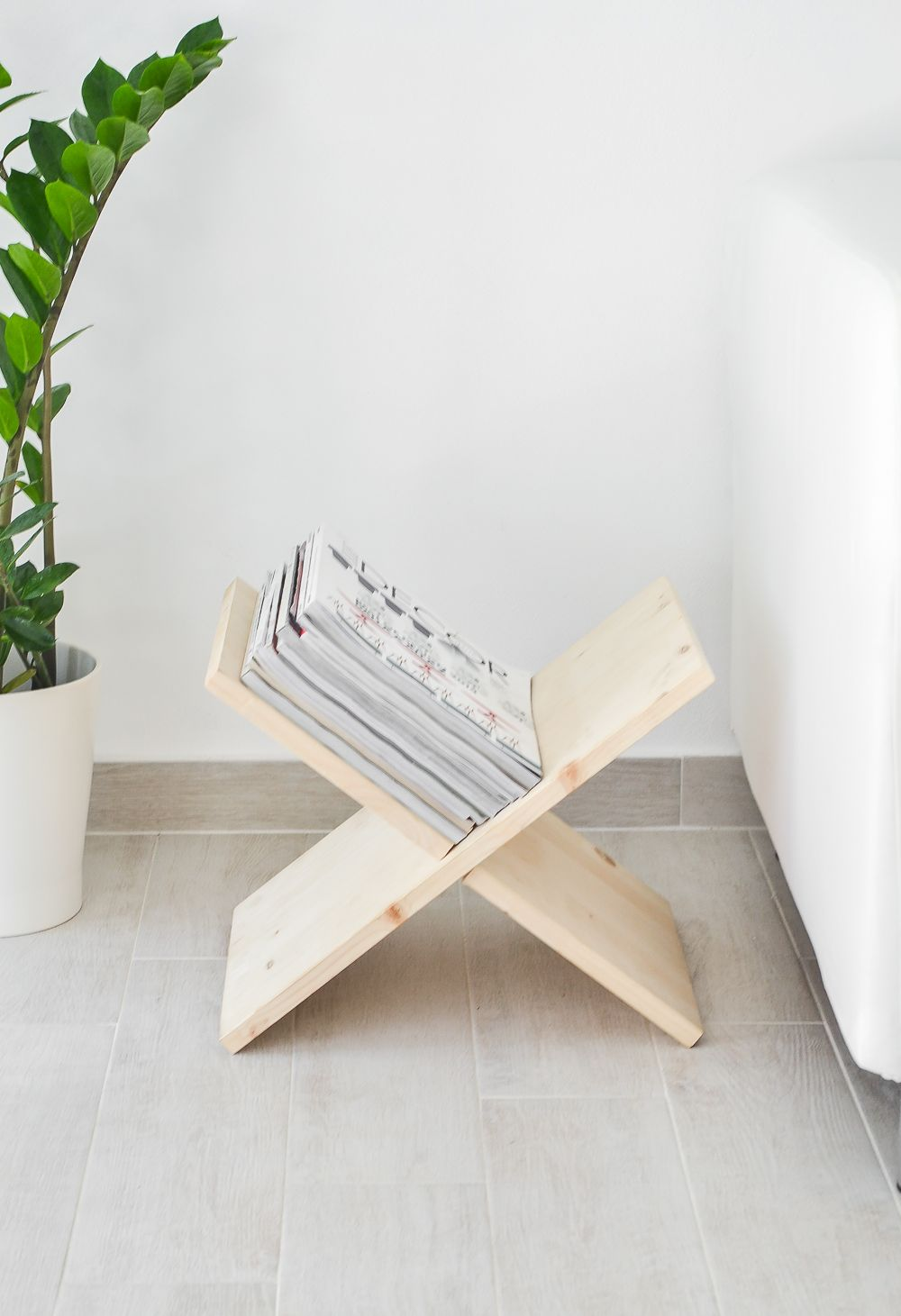 X Shaped Magazine Holder