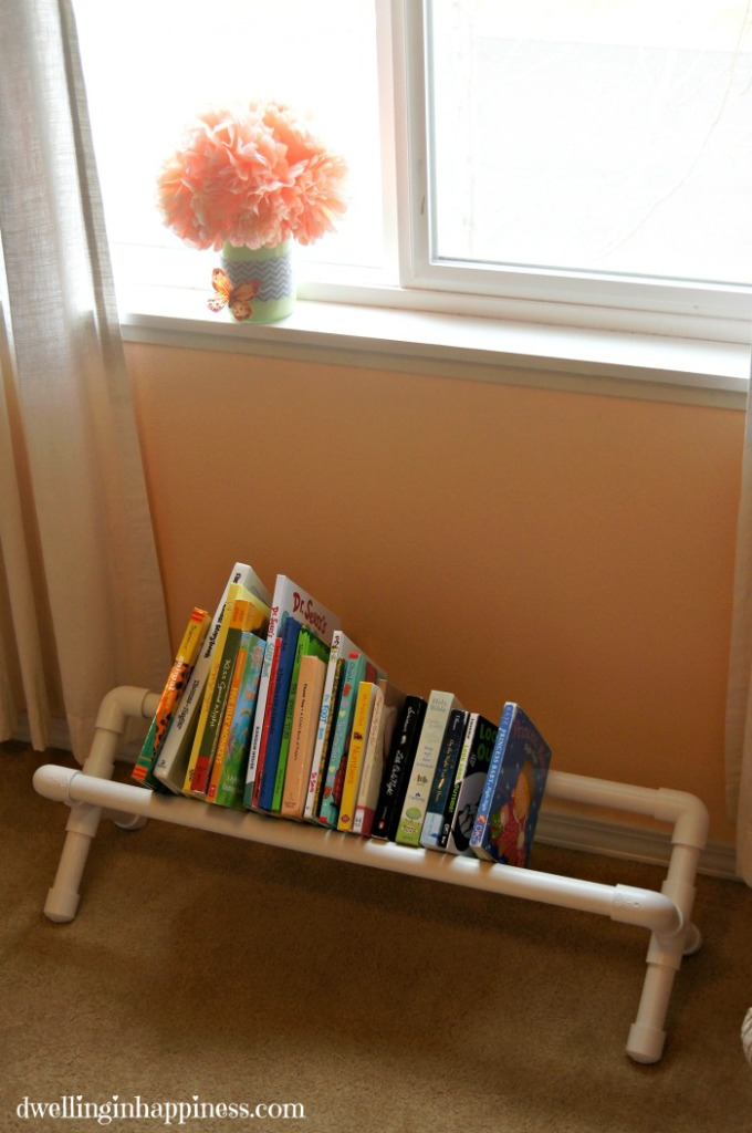 PVC Pipe Book Storage