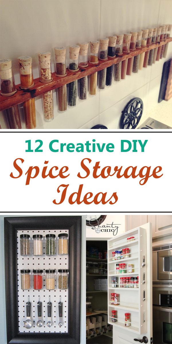 12 Creative DIY Spice Storage Ideas