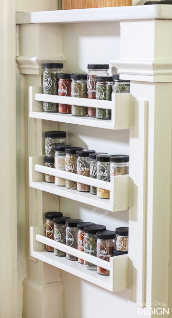 Easy Built-in Spice Rack
