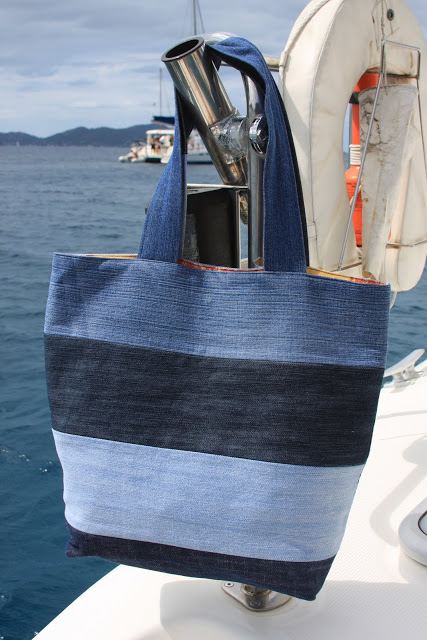 Toile-Lined Summer Tote