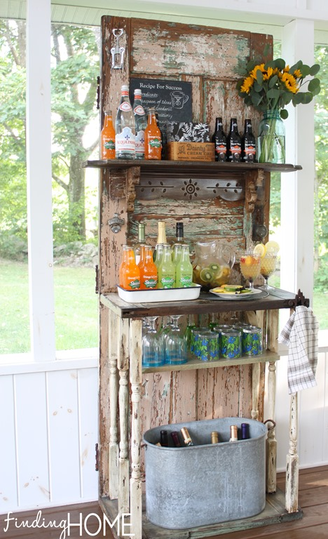 Vintage Door Beverage Station