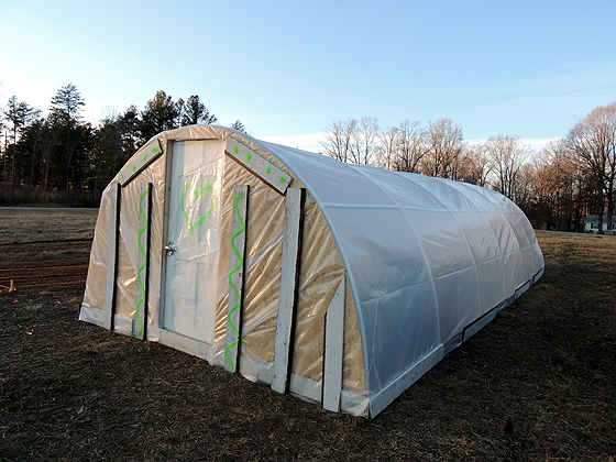 12'x30′ DIY PVC Greenhouse For $360
