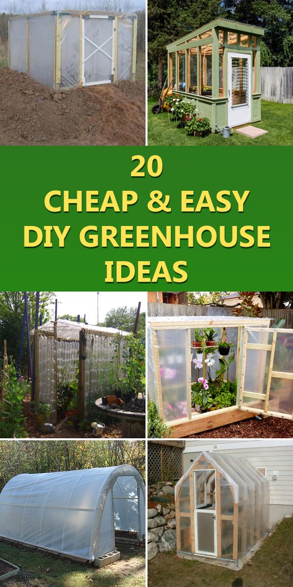 20 Cheap and Easy DIY Greenhouse Ideas