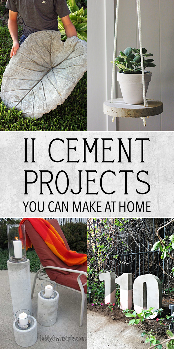 11 Amazing Cement Projects You Can Make At Home