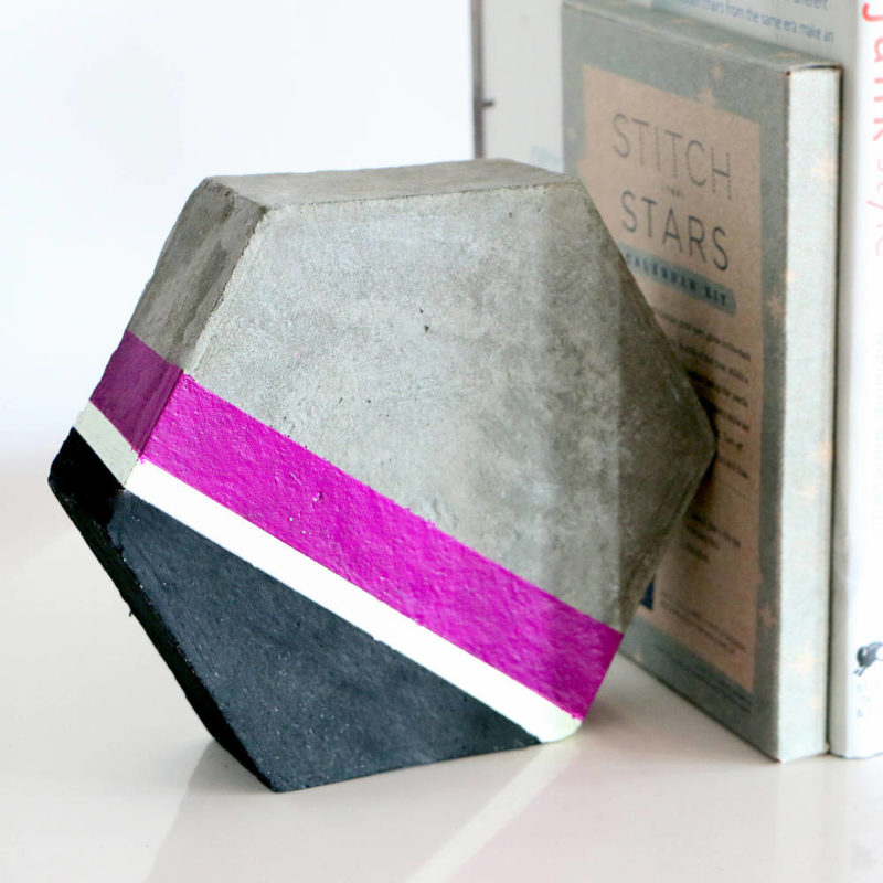 Cement Hexagon Bookends