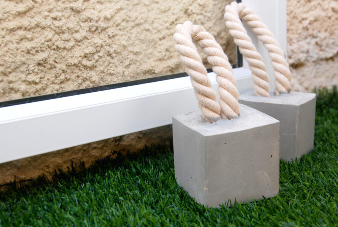 Cement and Rope Door Stopper