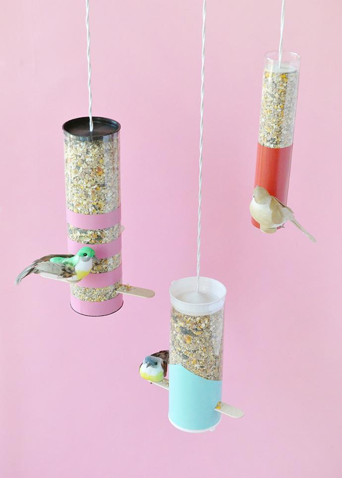 Colorblock Bird Feeders