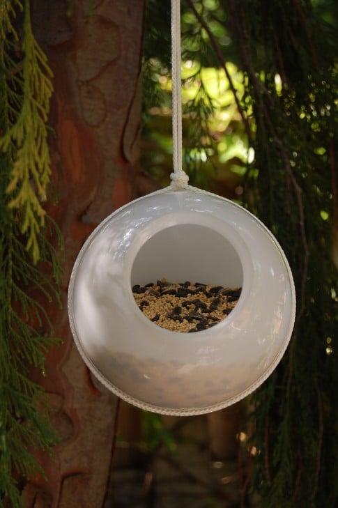 Glass Shade Bird Feeder