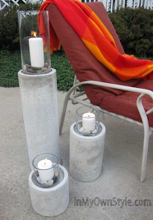 Outdoor Fire Columns