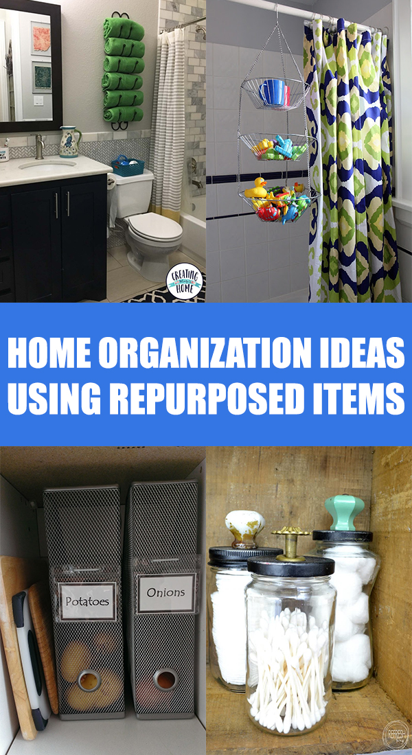 Home Organization Ideas Using Repurposed Items