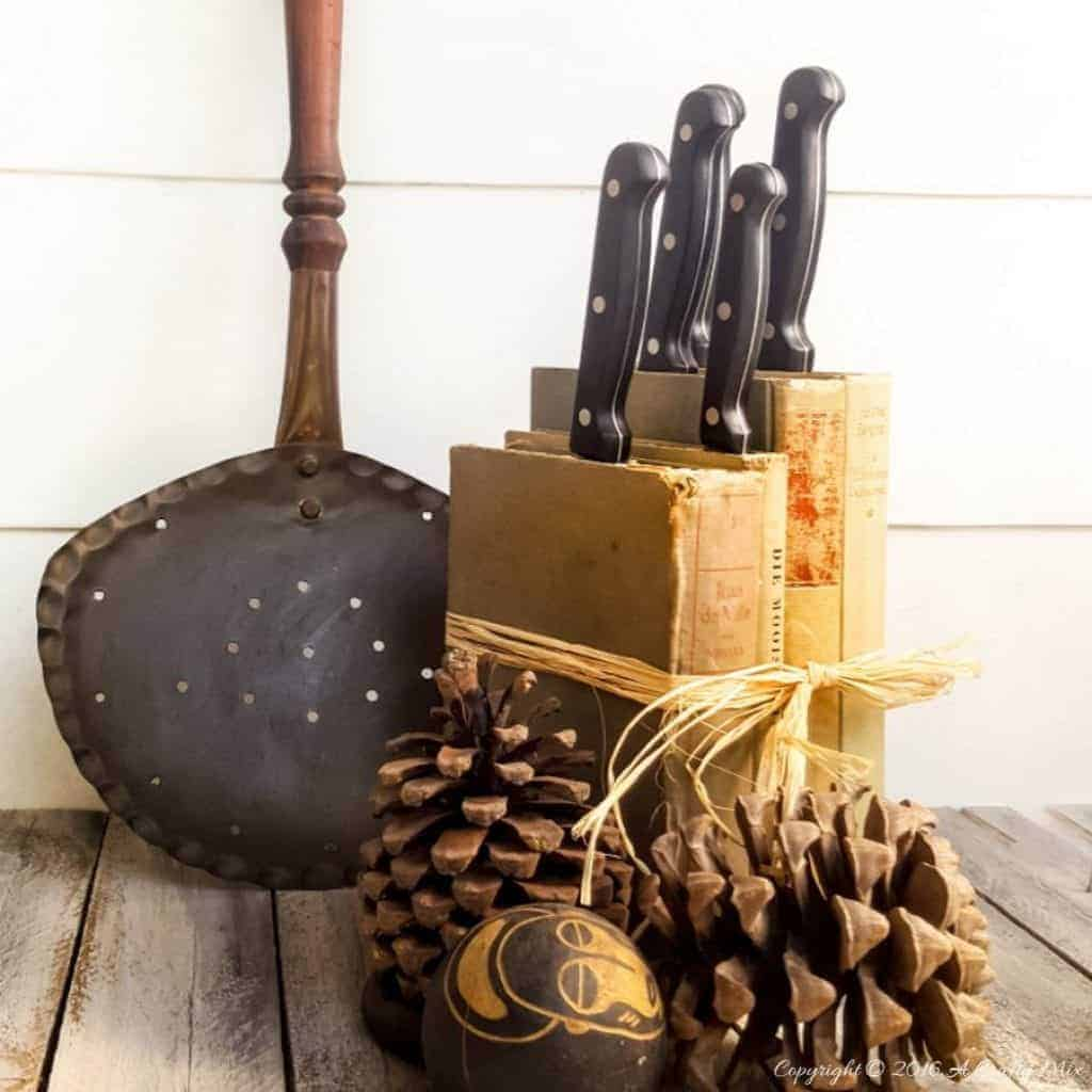 Turn old books into a knife block