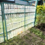 Plastic Bottle Fence