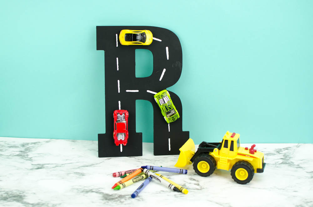Racetrack Letter Wall Art