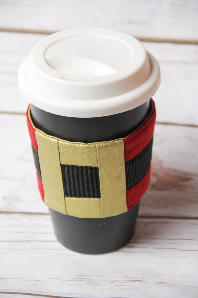 Santa's Belt Coffee Cozy