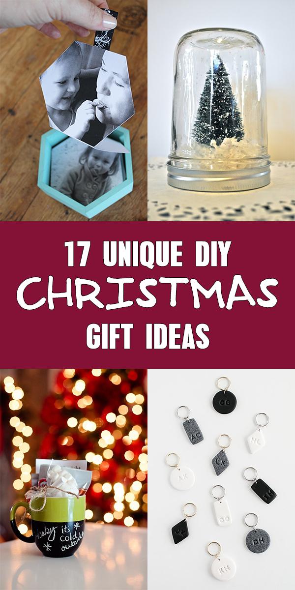 17 Unique DIY Christmas Gift Ideas