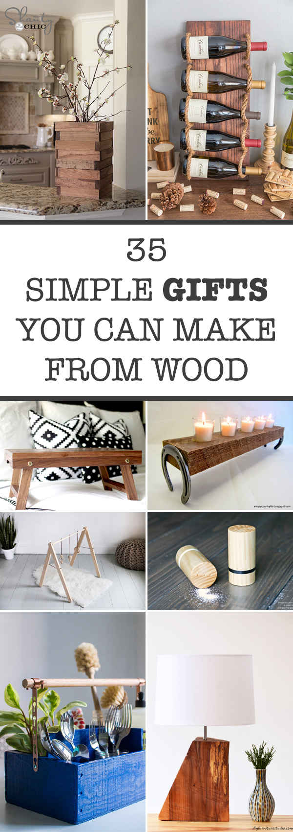 35 Simple Gifts You Can Make From Wood
