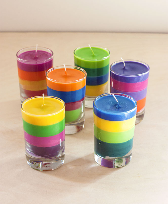 Colorful Crayon Candles
