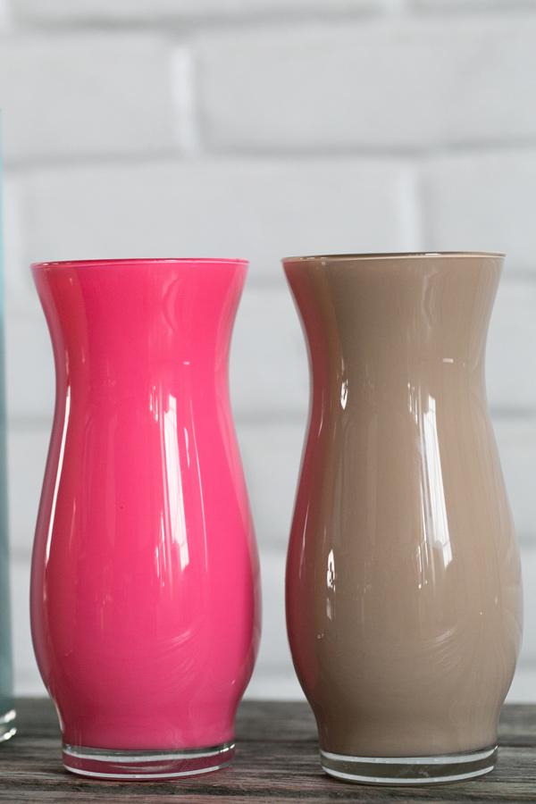 Enamel Painted Vases