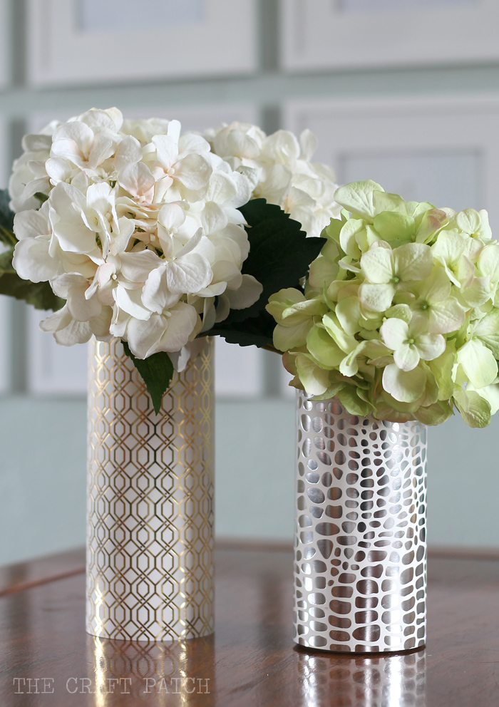 Geometric Metallic Vase