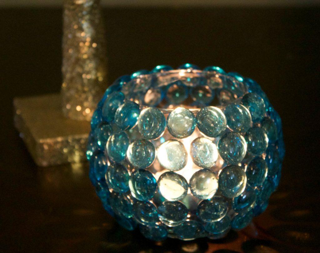 Glass Bead Candleholder