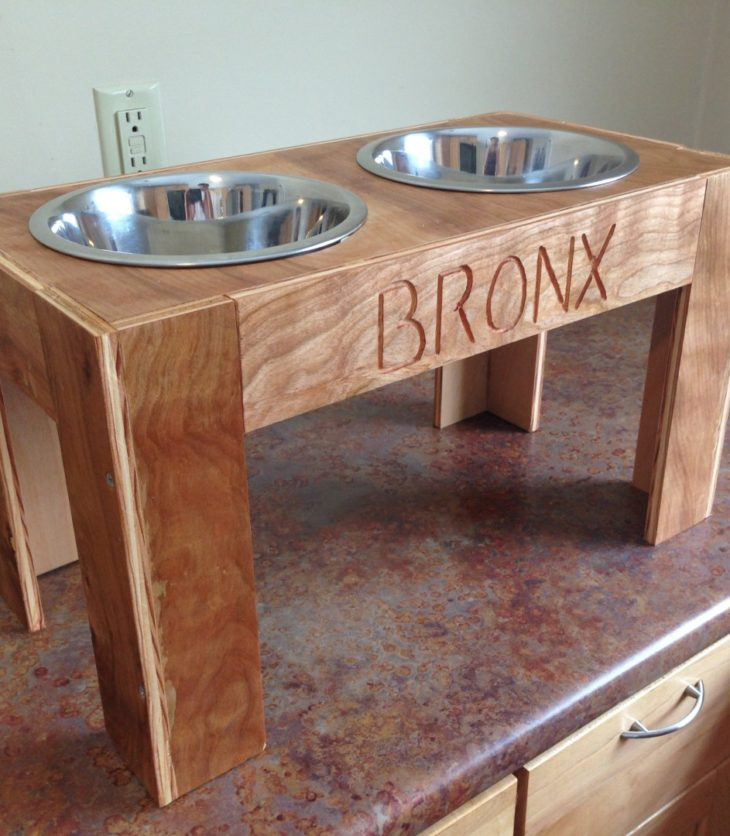 Raised Dog Feeder